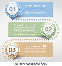 Design template with three banners, vector eps10...