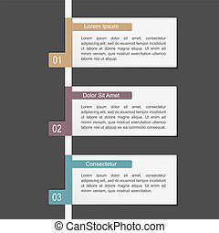 Design Template with Three Elements