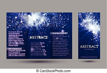 Design templates collection for banners, flyers, placards and posters. Bokeh light .