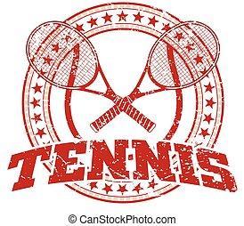 design, tennis, -, weinlese