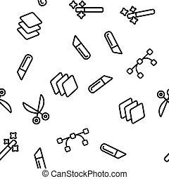 Design Tools Vector Seamless Pattern