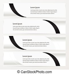 design vector banner  black and white color