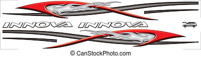 this is the car decal designs Innova