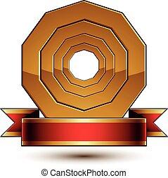 Design vector golden ring template