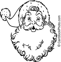 Design Vector Santa Claus Face