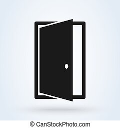 design, vektor, door., modern, ikone, rgeöffnete, abbildung