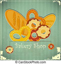 Vintage card for Bakery Shop