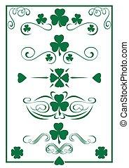 Design vintage green elements for St. Patricks Day