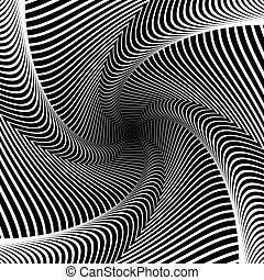 Design whirlpool movement illusion background. Abstract...