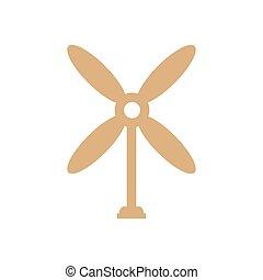 design wind turbine icon brown color