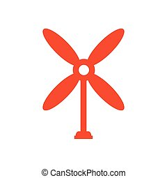 design wind turbine icon orange