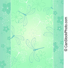 design with a dragonfly - beautiful design with stylized...