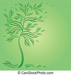 Design with decorative tree from le