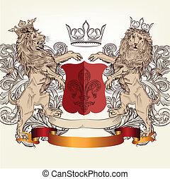Design with heraldic elements