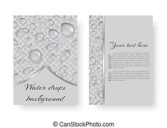 Design with rain drops - Leaflet template with transparent...