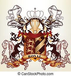 Design with royal heraldic element