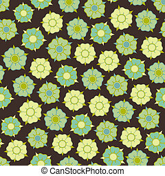 design with seamless flowers pattern