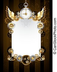 Design with silver clock