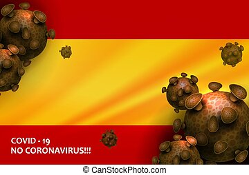 Design with the silhouette of the flag of Spain. Sign of ...