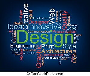 Design word cloud, vector