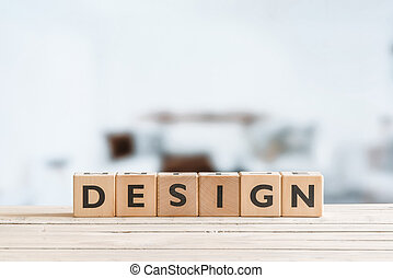 Design word on wooden cubes