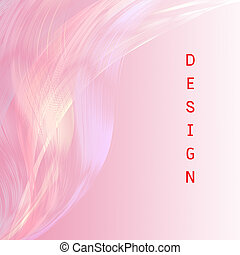 Design wording  with pink line attractive background