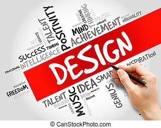 design, wort, wolke