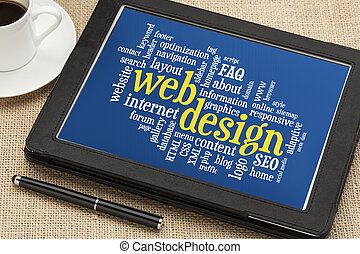 design, wort, wolke, web