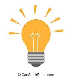 design, zwiebel, energie, licht