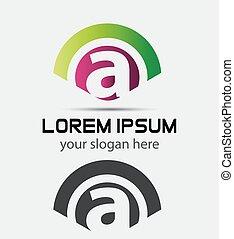 design.creative, logotipo, letra