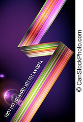 Designed abstract light background  with technology lines.