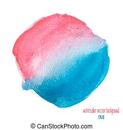 red and blue watercolor circle
