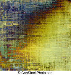 Designed background in grunge style. With different color patterns: yellow (beige); brown; gray; blue