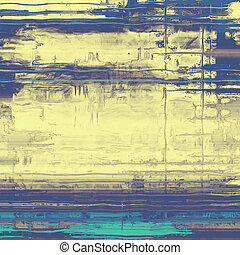Designed background in grunge style. With different color patterns: yellow (beige); gray; blue; cyan