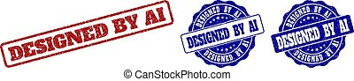 DESIGNED BY AI Grunge Stamp Seals