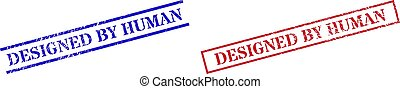 DESIGNED BY HUMAN Textured Rubber Stamp Seals with Rectangle Frame