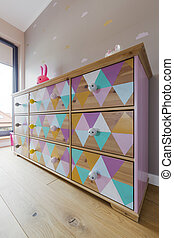 Designed chest of drawers