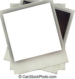 Designed grungy instant film frame