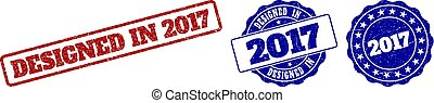 DESIGNED IN 2017 Scratched Stamp Seals