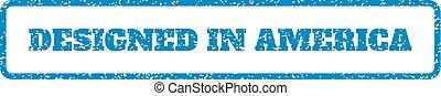 Designed In America Rubber Stamp