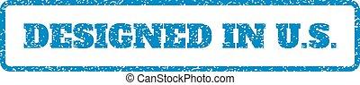Designed In U.S. Rubber Stamp
