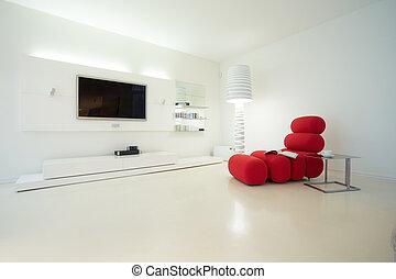 Designed interior in modern style