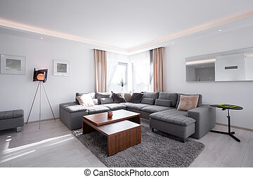 Designed interior with modern furniture - Picture of...