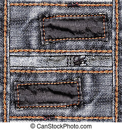 Designed jeans background