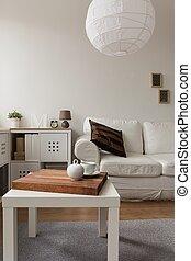 Designed living room interior - Vertical view of designed...