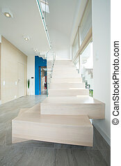 Designed marble stairs inside expensive house