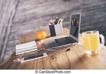 designer, боковая сторона, стол письменный