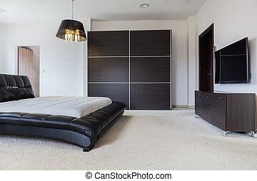 Designer bedroom in male style