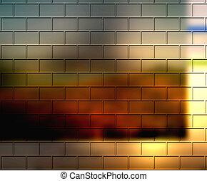 Sunset colored beautiful bricks