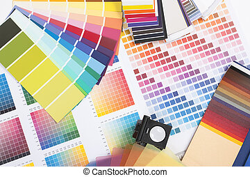 designer coloured swatches - colour spectrum of swatches as...
